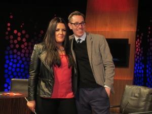 Laura O'Neill and Ryan Tubridy. Photo : Eurovision Ireland