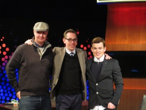 Mark Murphy, Ryan Tubridy and Eoghan Quigg (L to R). Photo : Eurovision Ireland