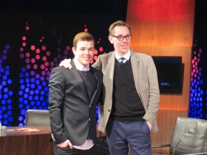Eoghan Quigg and Ryan Tubridy. Photo Eurovision Ireland