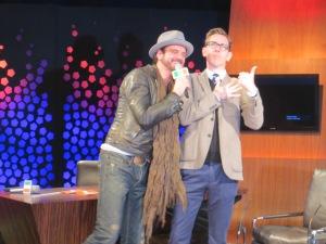 Andrew Mann and Ryan Tubridy. Photo : Eurovision Ireland