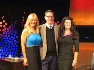 Valerie Roe, Ryan Tubridy and Patricia Roe (L-R) Photo ; Eurovision Ireland
