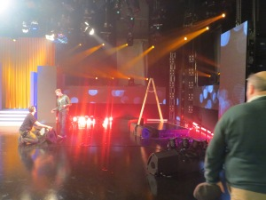 Eurosong Stage Yesterday. Photo ; Eurovision Ireland
