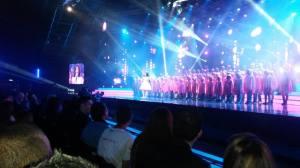Gaia Cauchi opens the Maltese Final. Photo : Eurovision Ireland