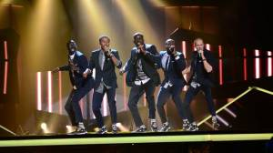 Panetoz at Melodifestivalen 2014 Heat 2. Photo Olle Kirchmeier/SVT
