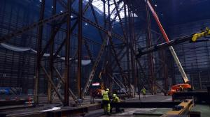 Roof supporting structures. Photo : Connie Maria Westergaard