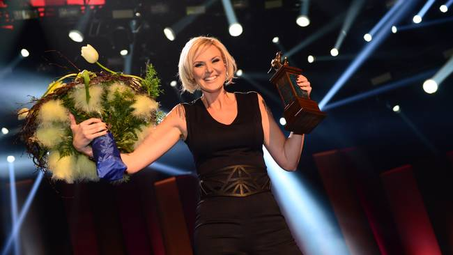 Sanna Nielsen Wins Melodifestivalen at last! Photo Olle Kirchemier/SVT