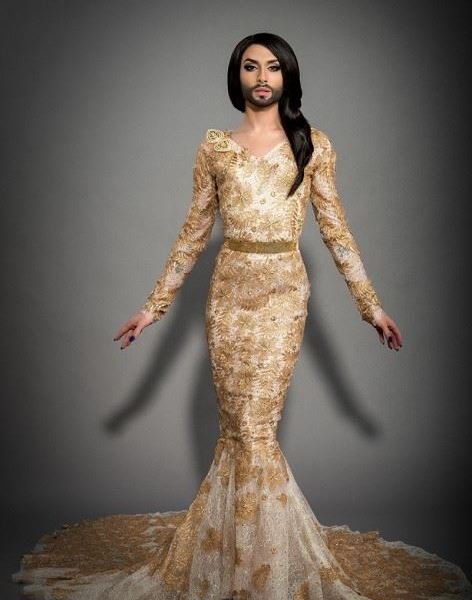 Conchita at Eurovision. Photo : ORF