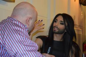Conchita Wurst at Eurovision In Concert. Photo Courtesy of Nuno Valerio