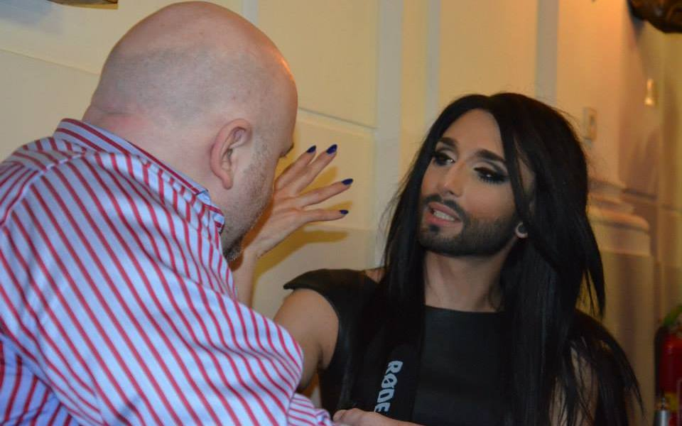 Conchita Wurst at Eurovision In Concert. Photo Courtesy of Nuno Valerio