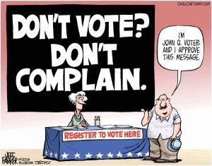 Don't Vote Don't Complain. Photo : feintandmargin