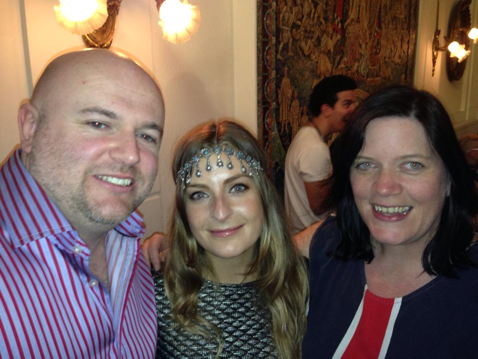 Eurovision Ireland's Elaine Dove and Garrett Mulhall meet Molly Smitten-Downes from the UK. Photo : Elaine Dove