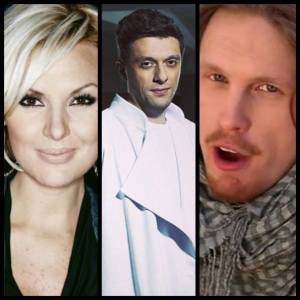 Sweden, Armenia and Latvia at Eurovision 2014 Rehearsals Day 1. Photo : YouTube and Wikipedia