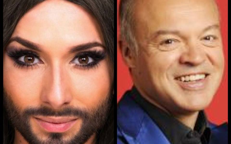 Conchita Wurst and Graham Norton. Photo : Wikipedia