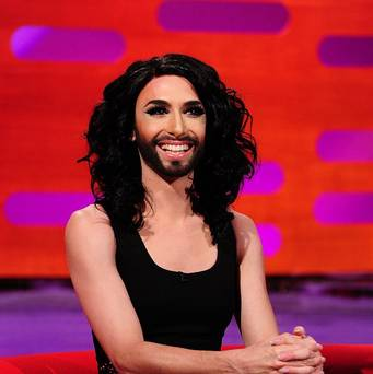 Conchita Wurst On The Graham Norton Show. Photo : BBC