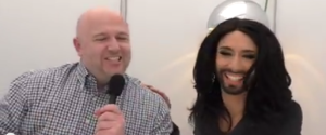 Eurovision Ireland Meets Conchita Wurst in Copenhagen. Photo : Eurovision Ireland