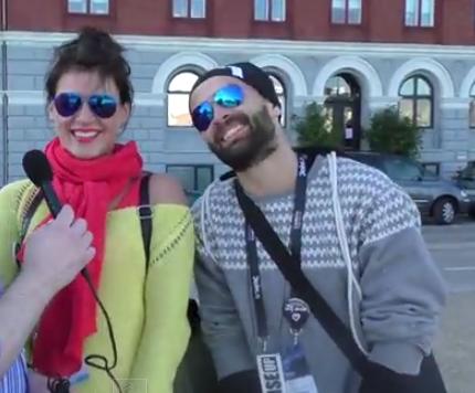 Eurovision Ireland Meets Vilija Matačiūnaitė From Lithuania at Eurovision 2014. Photo : Eurovision Ireland
