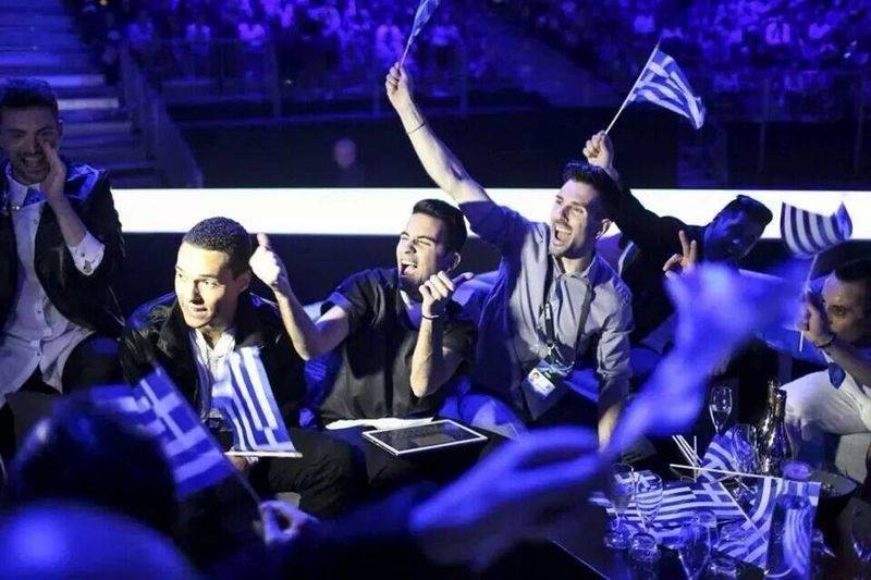 Greece at Eurovision 2014. Photo : Freaky Fortune Facebook