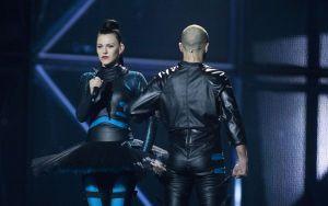 Vilija Matačiūnaitė wins the Barbara Dex Award for Eurovision 2014. Photo : lrt.lt