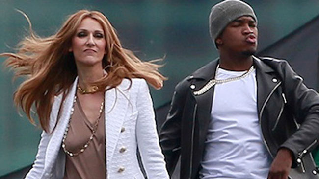 Celine Dion and Ne-Yo. Photo : YouTube