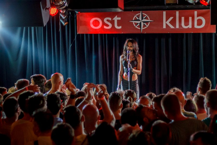 Conchita Wurst at OstKlub. Photo : Eurovision-Austria.com