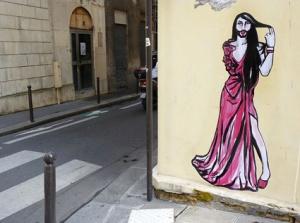 Conchita Wurst Street Art in Paris. Photo : Suriani Flickr