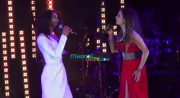 Conchita Wurst and Anna Vissi. Photo : YouTube