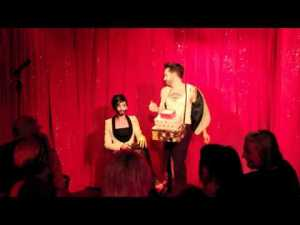 Conchita Wurst and Jacques Patriaque - 'Dick In A Box'. Photo : YouTube