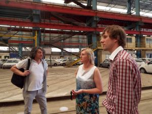 The Malta Shipbuilding, home of Junior Eurovision 2014, being looked at by the Steering Group (Photo: PBS)