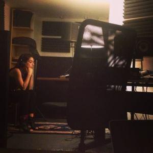 Ruth Lorenzo Recording New Album. Photo : Ruth Lorenzo Facebook