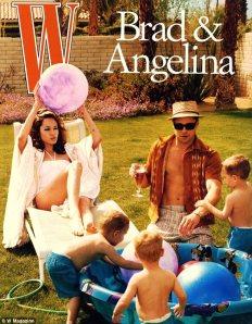 Brad and Angelina. Photo W Magazine