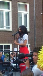 Conchita in Amsterdam. Photo : Gay Care Amsterdam