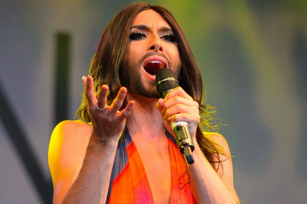 Conchita Wurst at Manchester Pride 2014. Photo : www.manchestereveningnews.co.uk