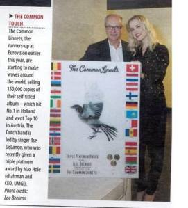 The Common Linnets go Triple Platinum. Photo : The Common Linnets Facebook