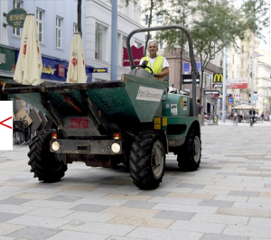 Work in Vienna City Centre. Photo : OE24.at
