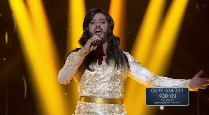 Atilla as Conchita Wurst. Photo : YouTube