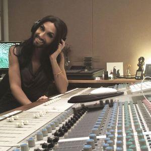 Conchita in the Studio. Photo : Conchita Official facebook