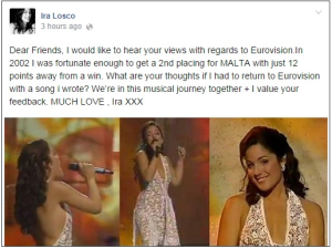 Ira Losco for Eurovision 2015?. Photo : Facebook