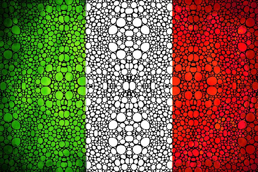 Italian flag by Sharon Cummings