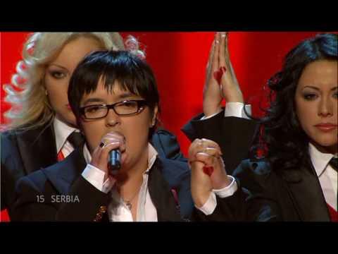 Marija Šerifović winning Eurovision 2007. Photo : YouTube
