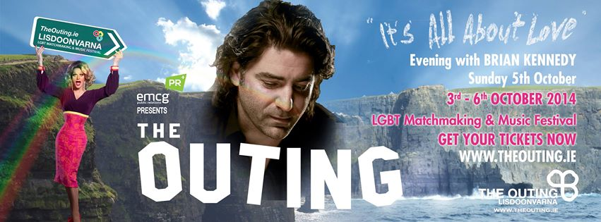 The Outing 2014 with Brian Kennedy. Photo: TheOuting.ie