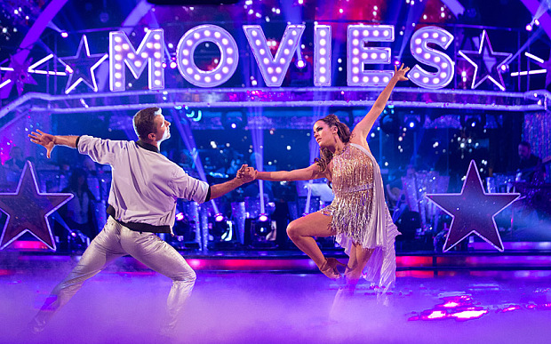 Caroline Flack - Strictly Come Dancing. Caroline Flack, Pasha Kovalev Photo: Guy Levy/BBC