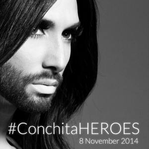 Conchita Wurst - Heroes. Photo : Conchita Wurst Facebook