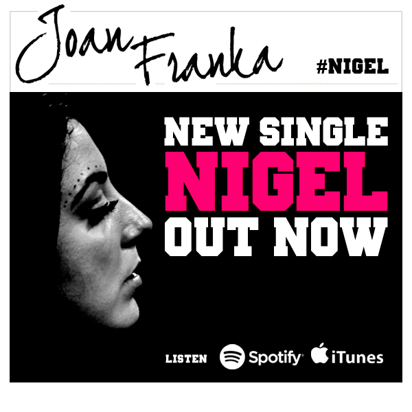 Joan Franka - 'Nigel'. Photo : Joan Franka Facebook
