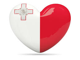 Malta heart flag