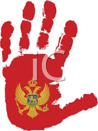 Montenegro flag hand