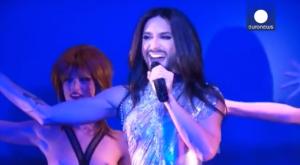 Conchita at 'Crazy Horse'. Photo : Euronews YouTube