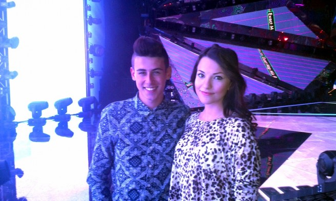 Michele Perniola and Anita Simoncini for San Marino Eurovision 2015. Photo : http://www.sorrisi.com/