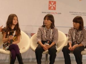 Krisia, Hassan and Ibrahim from Bulgaria