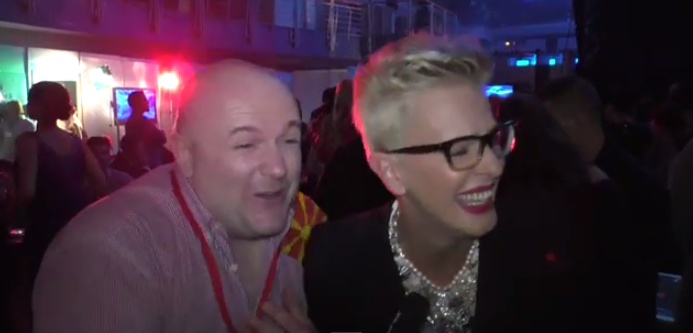 Tijana at Skopje Fest November 2014. Photo : Eurovision ireland