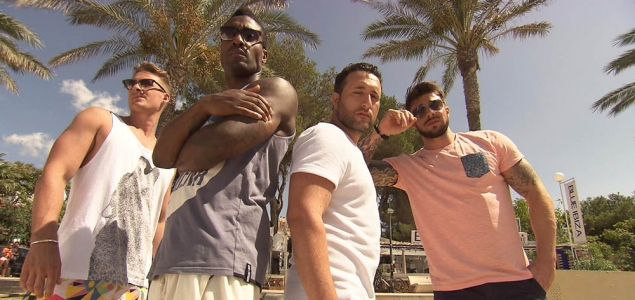 Blue Go Mad in Ibiza. Photo ITV2